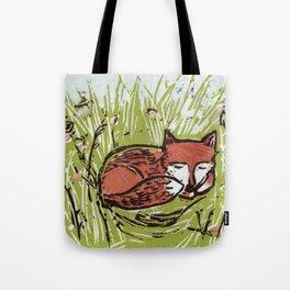 Fox in a Field Tote Bag