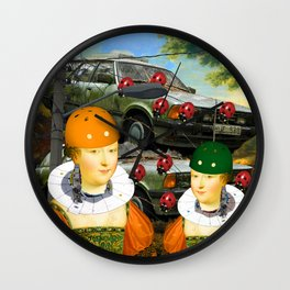 THE CAR PILE Wall Clock
