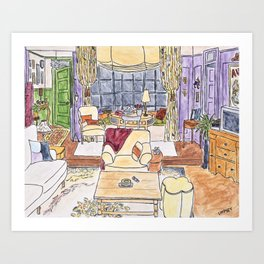 Friends TV Show Living Room Art Print
