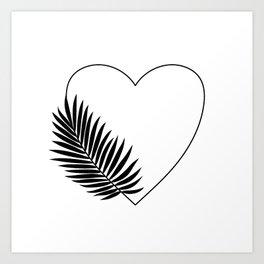 Heart Palm Art Print