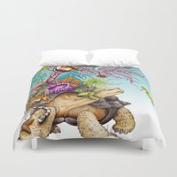 return Duvet Covers featuring Return To The Sea by TAOJB