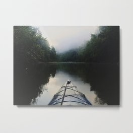 Kayaking the Jacks Fork River Metal Print