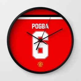 Pogba Edititon - Manchester United Home 2017/18 Wall Clock