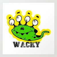Wacky Alien by Jeronimo Rubio 2016 (all over) Art Print