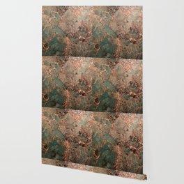 Marble Emerald Copper Blue Green Wallpaper