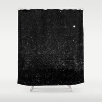 starry night Shower Curtains featuring Starry Night by The Wellington Boot