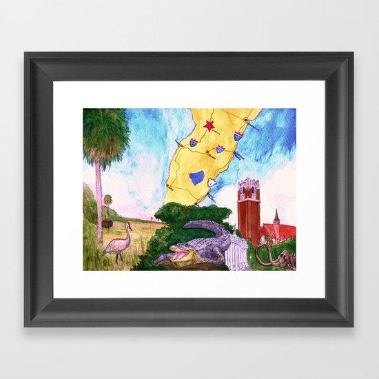"""""""Gainesville, FL"""" by Cap Blackard Framed Art Print"""