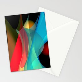bicubic waves -5- Stationery Cards