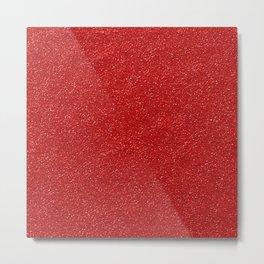 Shiny Glitter, Sparkling Glitter Glow - Red Metal Print