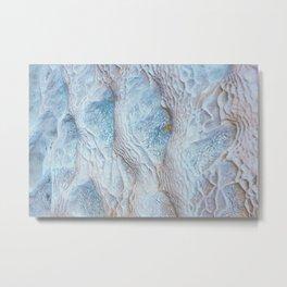 ALBINO CROCODILE SKIN TEXTURE DESIGN Metal Print