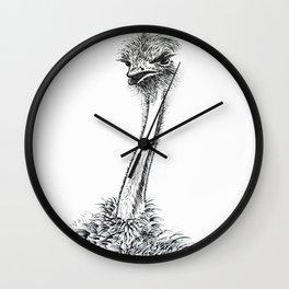 Ostrich staring Wall Clock