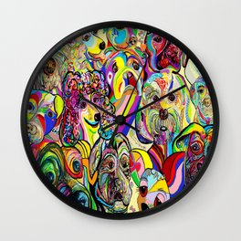Dogs, DOGS, DOGS!! Wall Clock