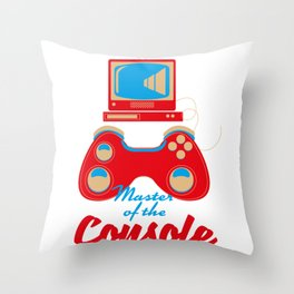 Master of the console Throw Pillow