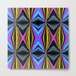 Funky Diamond Print Metal Print