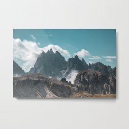 Dolomites Poster, Italy, Printable Photography, Nature, Landscape, Print, Wall Art, Home Decor Metal Print