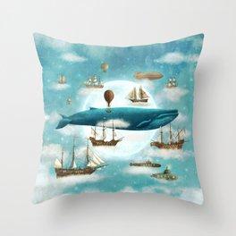 Ocean Meets Sky - revised Throw Pillow
