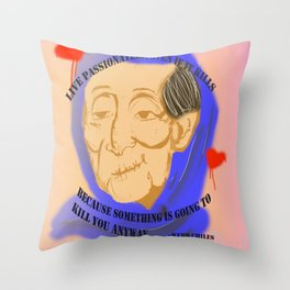 Unnamed Project: Live Passionately Throw Pillow