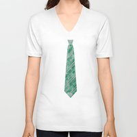 slytherin V-neck T-shirts featuring Slytherin by Zach Terrell