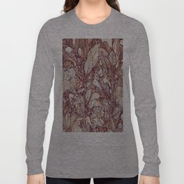 abstract camouflage leaves Long Sleeve T-shirt