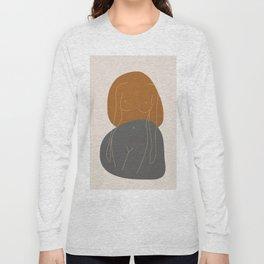 Line Female Figure 81 Long Sleeve T-shirt