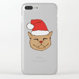 Christmas Kittens Clear iPhone Case