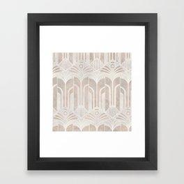 Peach Domio Nouveau Framed Art Print