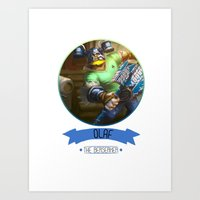 league of legends Art Prints featuring League Of Legends - Olaf by TheDrawingDuo