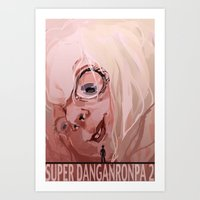 dangan ronpa Art Prints featuring Super Dangan Ronpa 2 by schmemy