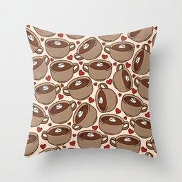 Hot Chocolate Love Throw Pillow