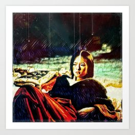 By Firelight Art Print