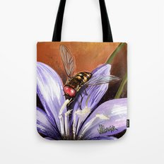 Fly on flower 10 Tote Bag