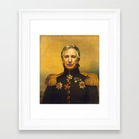 replaceface Framed Art Prints featuring Alan Rickman - replaceface by replaceface