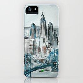 Philadelphia, Pennsylvania, USA Fine Art Acrylic Painting iPhone Case