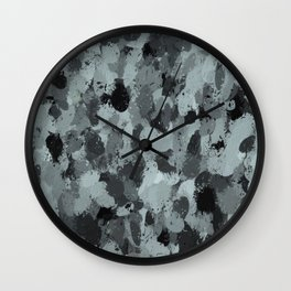 Black and Smokey Blue Pastels 3216 Wall Clock