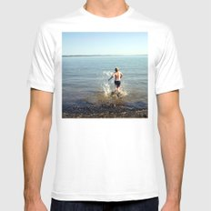 Into the drink MEDIUM White Mens Fitted Tee