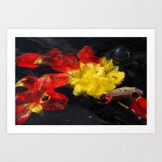 Fallen Flowers Art Print