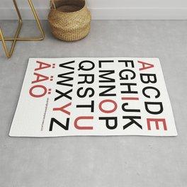 Helvetica Poster Rug