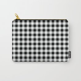 Modern black white picnic 80s print pattern Carry-All Pouch