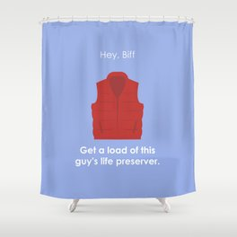 Back to the Future - Life Preserver Shower Curtain