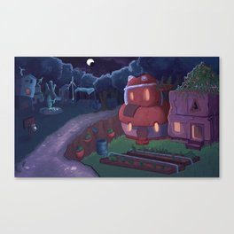 Small Colony Town Canvas Print