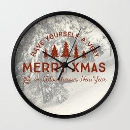 Merry Xmas Wall Clock