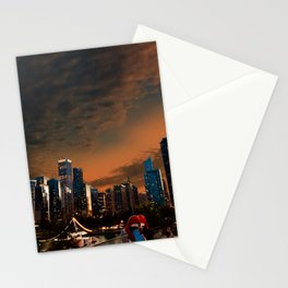 Golden Hour Chicago from Navy Pier Stationery Cards