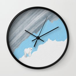 Blizzard Bear Wall Clock