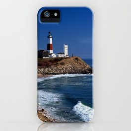 Crispy Morning at Montauk Point Lighthouse Long Island New York iPhone Case