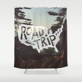 Road Trip USA - big sur Shower Curtain