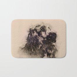 English Cocker Spaniel Sketch Bath Mat