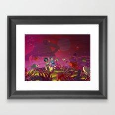 Matilda and Bouru - Alien Planet Framed Art Print