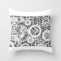 steampunk Throw Pillows featuring Steampunk by Squidoodle