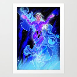 Cosmic Nights Art Print