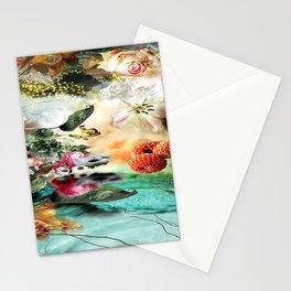 flower 4 aqua Stationery Cards